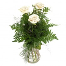 Aspiratie – Buchet din 3 trandafiri albi