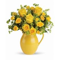 Buna Dimineata – Buchet cu trandafiri galbeni