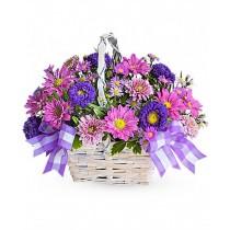 Cheerful - Cos cu crizanteme