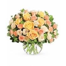 Dor de Vara – Buchet cu trandafiri si minirosa