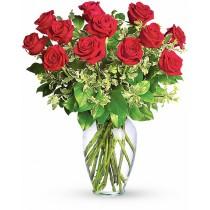 Dragoste Aprinsa – Buchet cu 13 trandafiri rosii