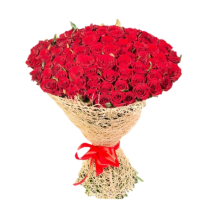 Exquisite Red Rose - Buchet din 101 trandafiri rosii