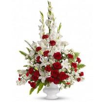 Eternal Beauty - Buchet din trandafiri, crini, gladiole si garoafe