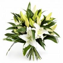Five o`clock Lily – Buchet din crini albi