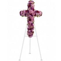 Floral Cross - Cruce din trandafiri, garoafe, crizanteme