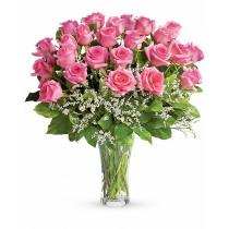 Fluturi in Stomac – Buchet cu 25 trandafiri roz