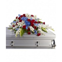 Fond Farewell - Aranjament din crini, hortensii, trandafiri si gladiole
