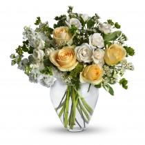 Forever - Buchet din trandafiri, minirose si matthiola