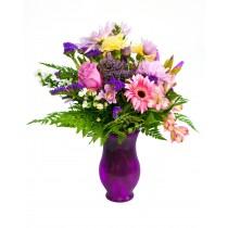 Gentle Touch – Buchet din crizanteme, trandafiri si gerbera