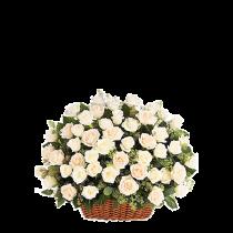 Gratie - Cos cu trandafiri albi