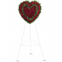 Infinit - Inima din trandafiri si garoafe rosii