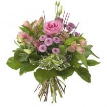Melodie Florala – Buchet din alstroemeria, lisianthus si trandafir