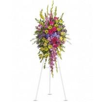 Multicolor - Coroana din flori multicolore