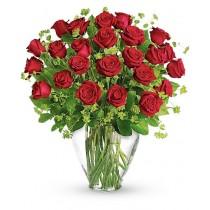 Parfumul Fericirii – Buchet cu 25 trandafiri rosii