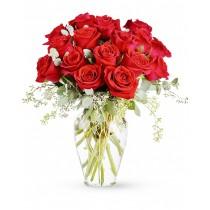 Pentru Totdeauna - Buchet din 17 trandafiri rosii