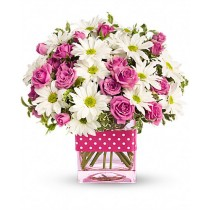 Happy Mom - Buchet din minirosa si crizanteme
