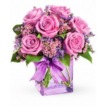 Elegant Mom - Buchet din trandafiri si waxflower