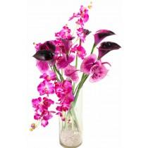 Purple Passion - Buchet din orhidee si cale