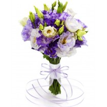 Purple ribbon - Buchet din eustoma
