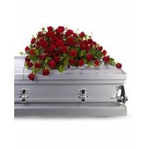 Reverence - Aranjament din trandafiri si garoafe