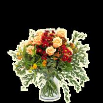 Rosewood – Buchet cu trandafiri si crizanteme