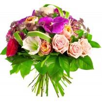 Royal - Buchet din trandafiri si orhidee