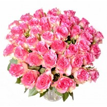 Silk rose Deluxe - Buchet de trandafiri roz