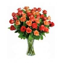 Soare - Rasare – Buchet din 35 trandafiri portocalii