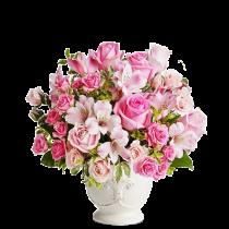 Sofisticat– Aranjament din trandafiri si alstroemeria