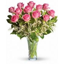 Sweet Candy Rose - Buchet de 11 trandafiri roz