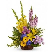 Sympathy Flowers - Cos cu trandafiri, hortensii, crini, crizanteme si gerbere