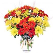 Toamna - Buchet din crizanteme