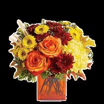 oamna Aurie - Buchet din trandafiri si crizanteme
