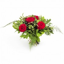 True Feelings – Buchet din 5 trandafiri rosii