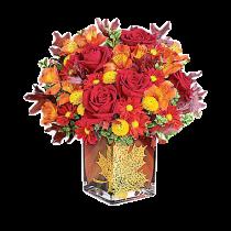 Picant de lux – Aranjament din trandafiri, crizanteme si alstroemeria