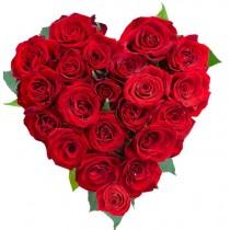 Velvet Red Heart - Inima din 23 trandafiri rosii