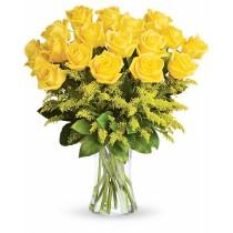 Zambet Cald – Buchet cu 19 trandafiri galbeni
