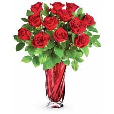 Aroma Dragostei – Buchet cu 13 trandafiri rosii