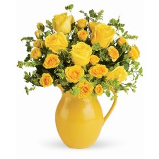 Buna Dimineata Deluxe – Buchet cu trandafiri galbeni si minirosa
