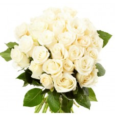 Deluxe Serenity - Buchet de 27 trandafiri alb crem