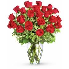 Dragoste Aprinsa Deluxe – Buchet cu 25 trandafiri rosii