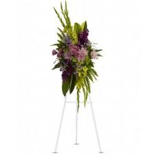 Endless - Coroana din trandafiri, crizanteme, deplhinium si gladiole