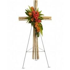 Faith Cross - Cruce din orhidee, minirosa si trandafiri