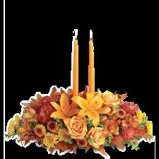 Fall Flowers – Aranjament din crini, trandafiri si crizanteme