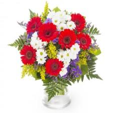 Luxuriant – Buchet cu gerbera si crizanteme