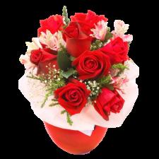 Magic - Buchet cu trandafiri si alstroemeria