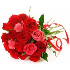 My Love - Buchet din trandafiri rosii si roz