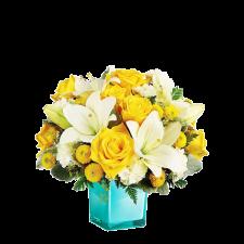 Perfect Balance – Buchet cu trandafiri, crini si crizanteme