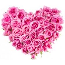 Pink desire - Inima din 39 trandafiri roz