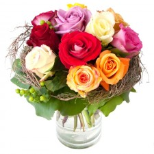 Rainbow - Buchet de trandafiri multicolori